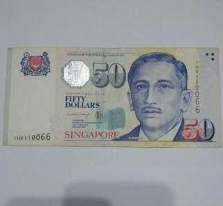 Sg $50 BCCS LHL doubles fancy number