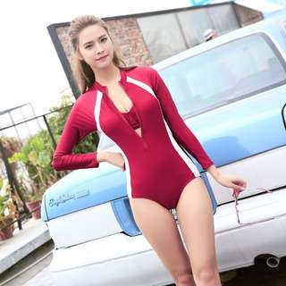 In Stock 🎀Long Sleeve Swimsuit, Quick Dry Rash Guard