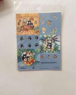 Sanrio vintage patapatapeppy 貼紙1996