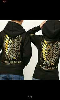 Attack on Titan Couple Hoodie (Ships in 7days)