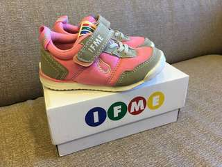 🚚 日本IFME灰粉紅超輕量兒童機能鞋