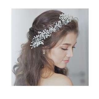Headpiece Hairpiece Aksesoris Hiasan Rambut Pesta Bride Wedding Pengantin