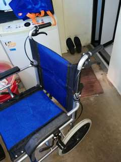 Light weight wheelchair blue colour