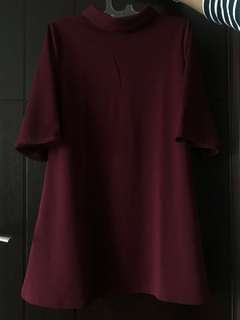 MAROON DRESS COLLAR