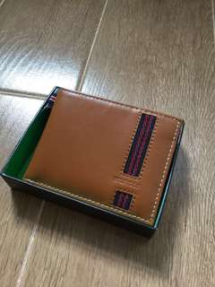 Tommy Hilfiger men's leather wallet passcase and valet toffee 拖肥色 男裝銀包 皮