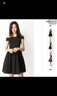Kristen off shoulder Dress Black