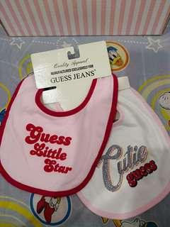 Brand New GUESS Baby Bib set of 2pcs