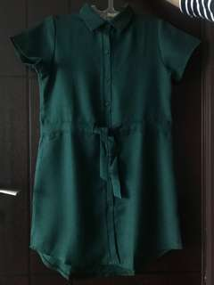GREEN DRESS KEMEJA