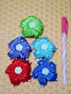 XS29 Jepit Rambut / Hairclips Ribbon Wanita Model Baling-baling
