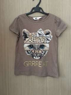 H&M Leopard Brown T-shirt