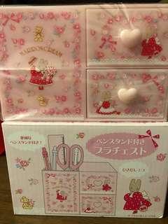 原裝日版Sanrio Marron Cream 筆座連小櫃桶