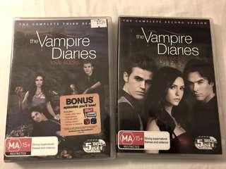 Season 2 & 3 of The Vampire Diaries DVD set