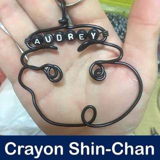Crayon Shin-Chan Wirecraft Personalised Keychain [ Children's Day Teachers Valentine Christmas Raya birthday door graduation customised gifts uncle anthony FOR MORE SUCH CRAFTS, 👉 http://carousell.com/p/130210386