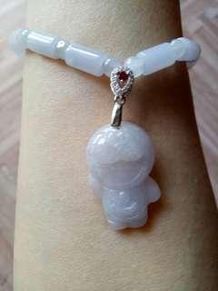 🚚 天然翡翠紫羅蘭手鍊