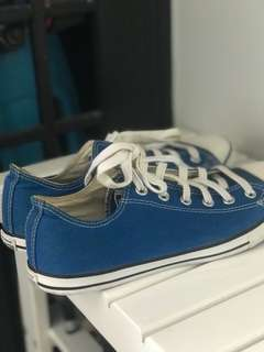 Converse Shoe Blue UK7 EU41 Authentic Male