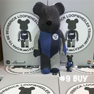 巜 Medicom Toy BE@RBRICK  LOOPWHEELER 100% & 400% 100% + 400% 》
