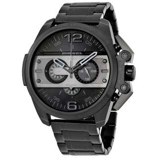 IRONSIDE CHRONOGRAPH BLACK DIAL BLACK ION-PLATED MEN'S WATCH DZ4362