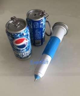 Key chain pen (Pepsi) - door gift, goodies bag, goody bag packages, goodie favors