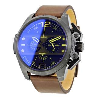 IRONSIDE CHRONOGRAPH BLUE DIAL BROWN LEATHER MEN'S WATCH DZ4364