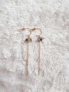 Kr Jasmine Sea Blues Hoop Earrings