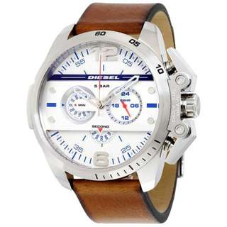 IRONSIDE CHRONOGRAPH SILVER DIAL BROWN LEATHER MEN'S WATCH DZ4365