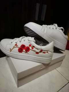 Flowery White Sneakers