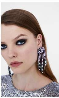 Zara shining glass earrings