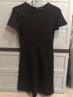 XS Zalora Black Skater Dress