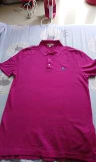 Burberry 男裝 M size POLO Shirt