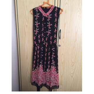 Floral (Cheongsam Style) Dress