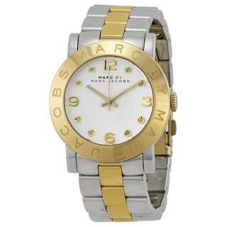 AMY SILVER DIAL TWO-TONE STAINLESS STEEL LADIES WATCH MBM3139