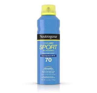Neutrogena Cool dry sport 155g (market price $26.9)