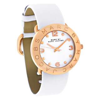 AMY WHITE DIAL WHITE LEATHER LADIES WATCH MBM1180