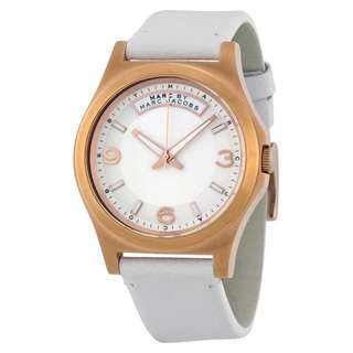 BABY DAVE IVORY DIAL WHITE LEATHER UNISEX WATCH MBM1260