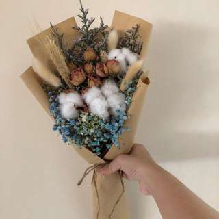 Cotton Flowers x Dried roses