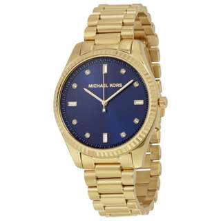 BLUE DIAL GOLD-TONE LADIES WATCH MK3240