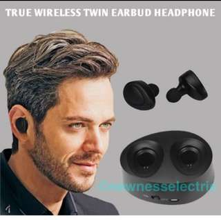 (In stocks)True Wireless Earbuds With HD Micphone and Charging Box CSR 4.1 EDR bluetooth headsets for IOS and Android