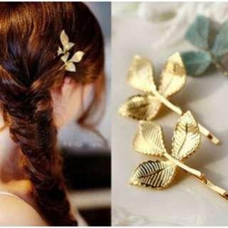 Fairy Leaf Hair Pin (3 in a set)