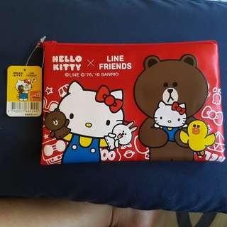 Hello Kitty X Line Friends Pouch