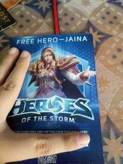 Hero of the storm hero code card