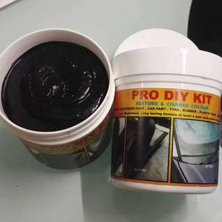PRO DIY KIT - Black Paint for Dull Motorcycle Plastic and Rubber Parts