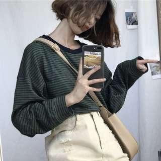 Oversized long sleeve ulzzang top