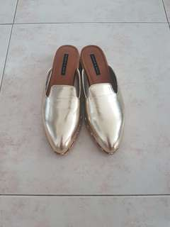 Charles & Keith Gold Mules