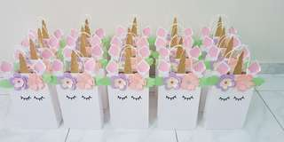 Unicorn Goodie Bags or Paper Bags