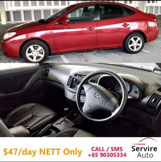 Hyundai Avante 1.6A for Rent ($47/day) $330/week