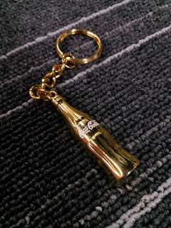 HK$100/1PC Rare New Gold Color Metal Coca Cola Bottle Keychain Key Holder 全新可口可樂金屬鎖匙扣