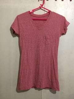 Pink V-Neck Shirt