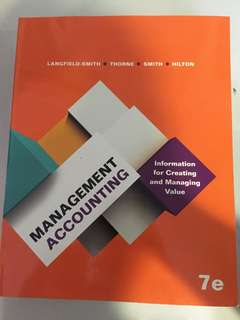 ACC2002: Managerial Accounting • Langfield - smith • Thorne • Smith • Hilton