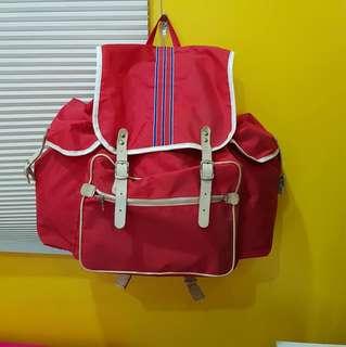 Red Backpack Bag Japan