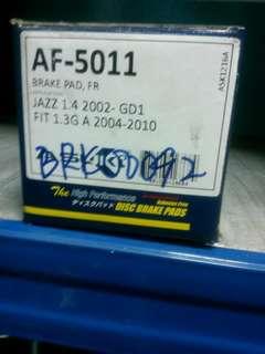 Brake Pad JAZZ 1.4 2002- GD1 FIT 1.3G A 2004-2010
